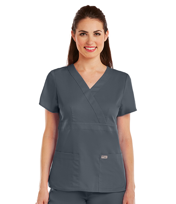 4135 Grey\'s Anatomy Scrubs Modern Fit Mock Wrap Top | Fashion Scrub ...